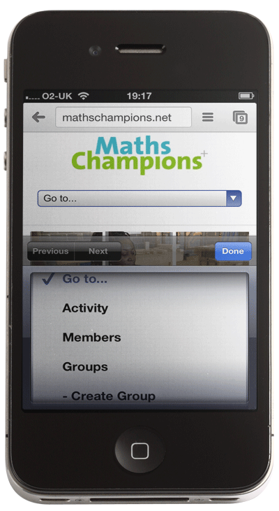 Image of Maths Champions Network on iPhone